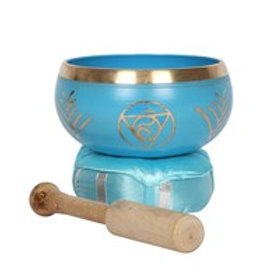 Turquoise Throat Chakra Brass Singing Bowl