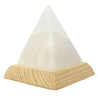 Pyramid White Usb Salt Lamp