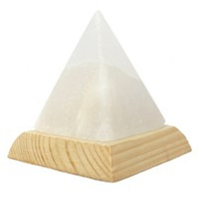 Pyramid White Usb Salt Lamp