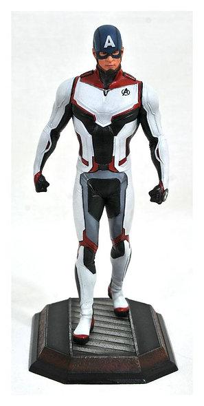 Marvel Avengers Endgame PVC Statue Team Suit Captain America Exclusive 23cm