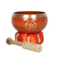 Orange Sacral Chakra Brass Singing Bowl