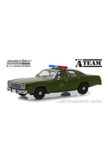 A-Team Diecast Model 1/43 1977 Plymouth Fury U.S. Army Police