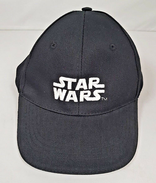 Star Wars Black Cap With Silver Logo (Adjustable)