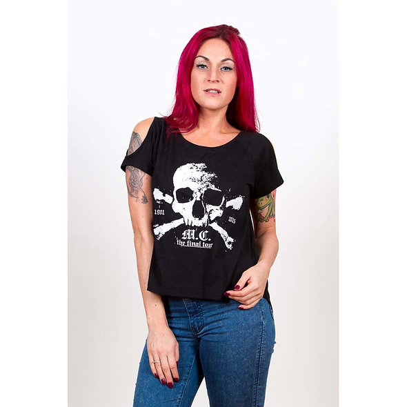 Motley Crue Ladies Fashion Tee : Orbit with Cut-outs