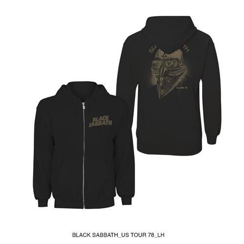 Black Sabbath Unisex Zipped Hoodie: Tour 1978 (Back Print)