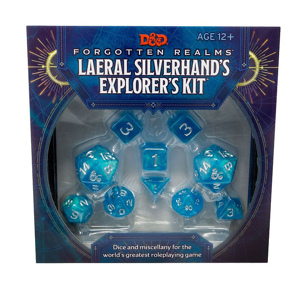Dungeons & Dragons Forgotten Realms: Laeral Silverhand's Explorer's Kit - Dice &