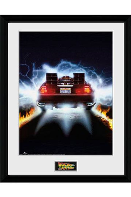 Back to the Future Framed Poster DeLorean 45 x 34 cm