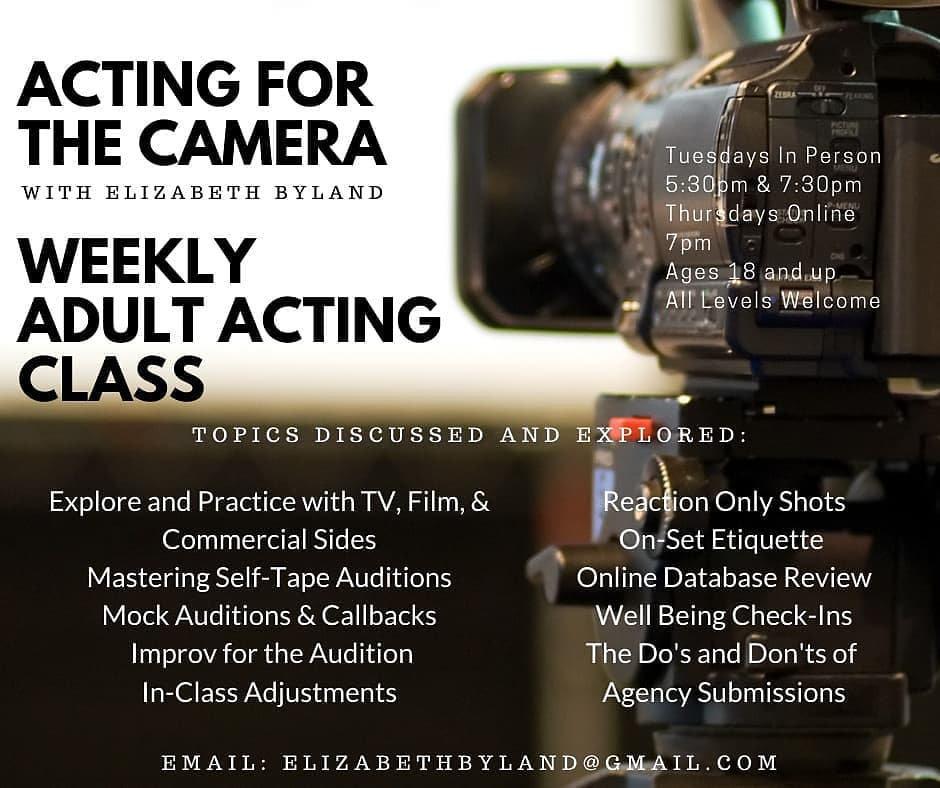Thursdays Virtual On-Camera Acting