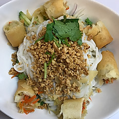 Thai Crispy Spring Roll Salad Bowl