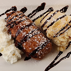 Deep Fried Chocolate Bar With Ice Cream