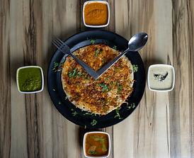 South Indian food and uttapam at Dosa House, Jamnagar