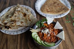 Punjabi sabji, parotha and naan at Dosa House, Jamnagar