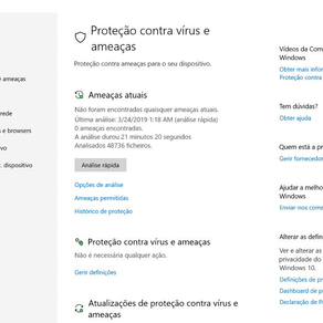 Saiba como fazer uma análise de vírus no Windows 10 com a Segurança do Windows