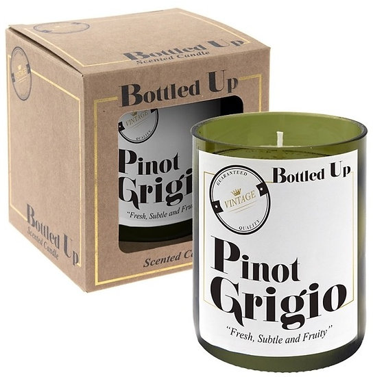 Fun, Quirky and Unique Home & Giftware | Recycled Green Wine Bottle Candle Pinot Grigio Scent