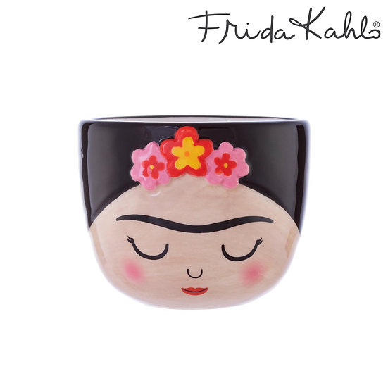 Home Accessories and Gifts. Frida Kahlo Indoor Planter Pot. Small Indoor Plant Pot for Succulents. Ceramic face planter