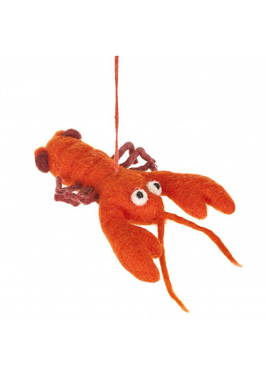 Fun Quirky Unusual Hanging Red Lobster Needle Felt Home Decoration/Accessory/Ornament. unusual seaside Fish gift