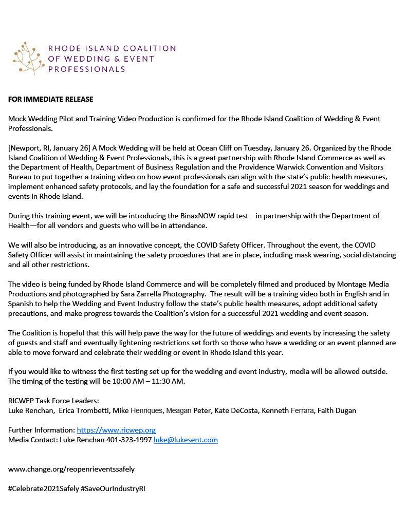 Press release for event professionals vi