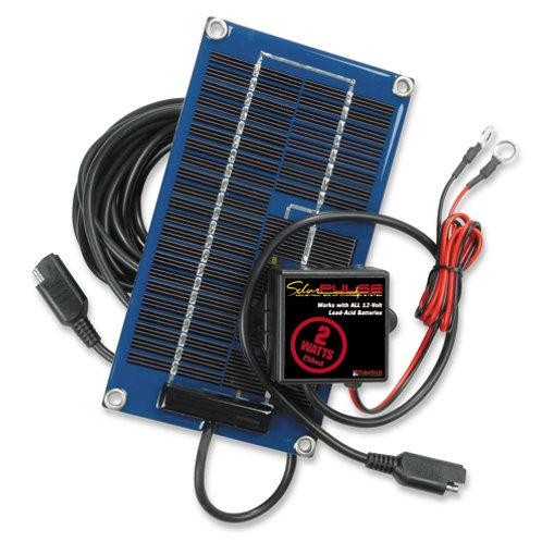 SolarPulse 12V Solar Charger Maintainer, 2-Watt