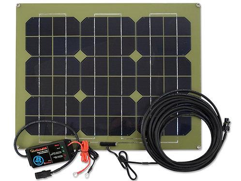 SolarPulse 12V Solar Charger Maintainer, 25-Watt