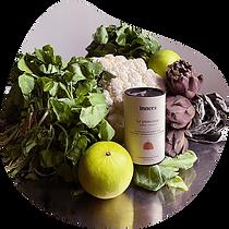 zelikha pour inners avec une recette de veloute de cresson froid avec condiment chou fleur
