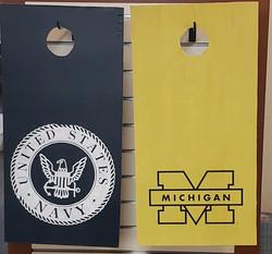 Cornhole- Military or Michigan