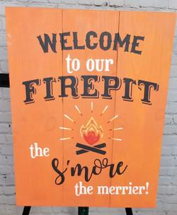 Firepit & Smore sign