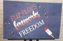 Flipflops, Fireworks, and Freedom Wood S