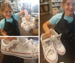 Canvas Shoe Painting