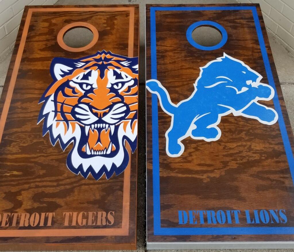 Cornhole- Deteroit Tigers & Lions