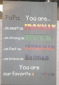 Superhero Dad Wood Sign