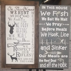 Hunting or Fishing Wood Signs
