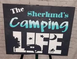 Camping Life Sign
