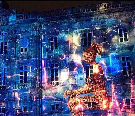 Lyon Les Lumières Place des Terreaux 2019