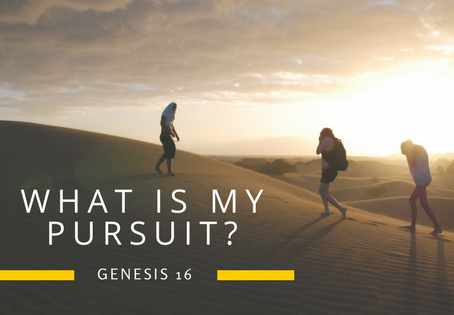 What is my pursuit?
