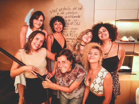Nós, as poetas! na inauguração do Clube Melissa Ipanema