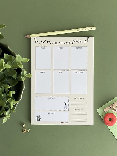 Haftalık planlayıcı | A5 | Sarı