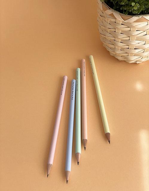Bleistift | Pastell | mit Motivationsspruch