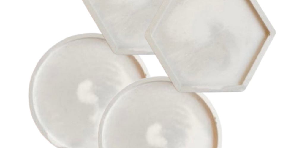 Marble Cement Coastersby Evaton Home Decor