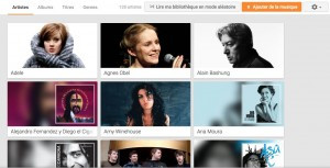 Google Play Music permet de stocker 50 000 chansons