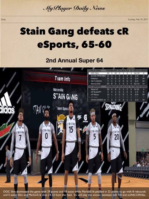 Stain Gang Defeats CR