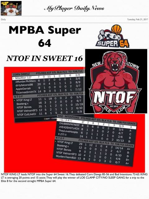 NTOF to the Sweet 16