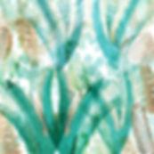 green tropical wall art palm leaves beach wall art