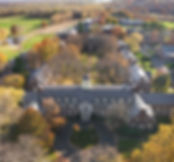 An aerial shot of the Loomis Chaffee School in autumn.