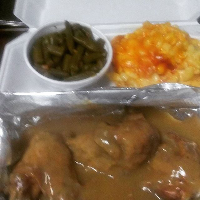 Rainy day today. Don't feel like cooking. Come to Nana's Place for comfort food_ smothered chicken,