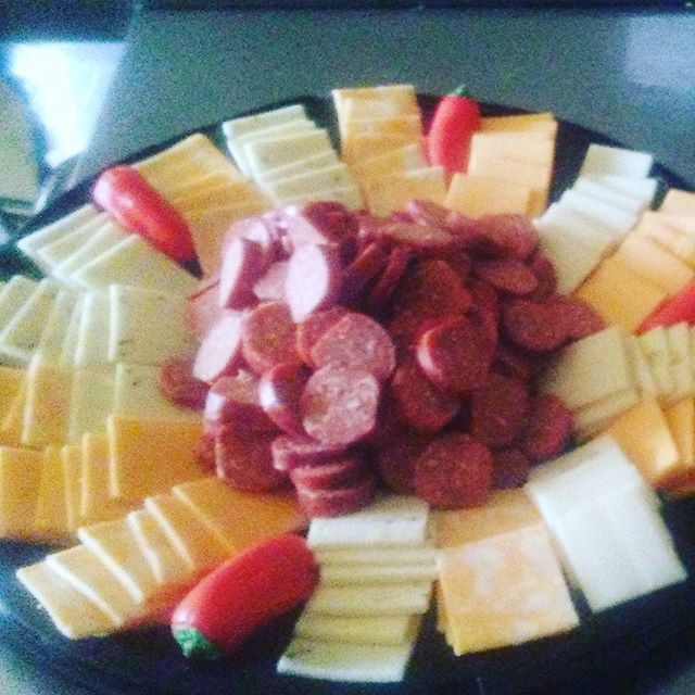 Peperonni and cheese tray