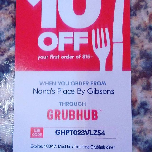 Grubhub 1st time user deal available for Nana's Place