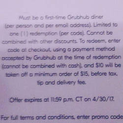 Coupon usage rules