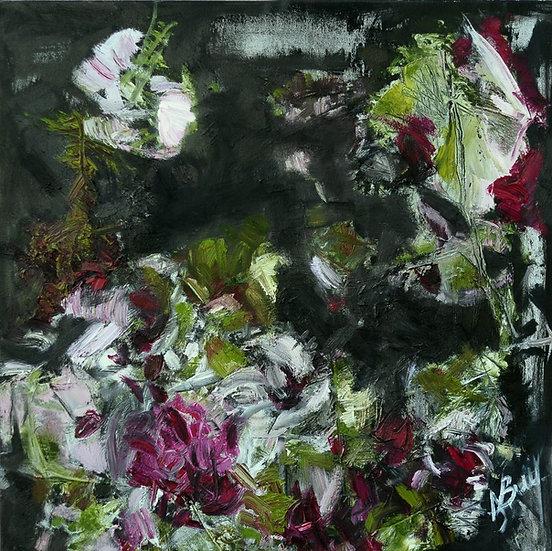 Birutė Nomeda Stankūnienė, Rožinės gėlės, šilta vasara..., 2015