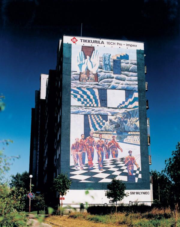 Viena iš 10 sienų, sukurtų Donato Pirštelio 1997 m. Lenkijoje. Nuotrauka: Murals Gdansk Zaspa, Monumental Art Collection