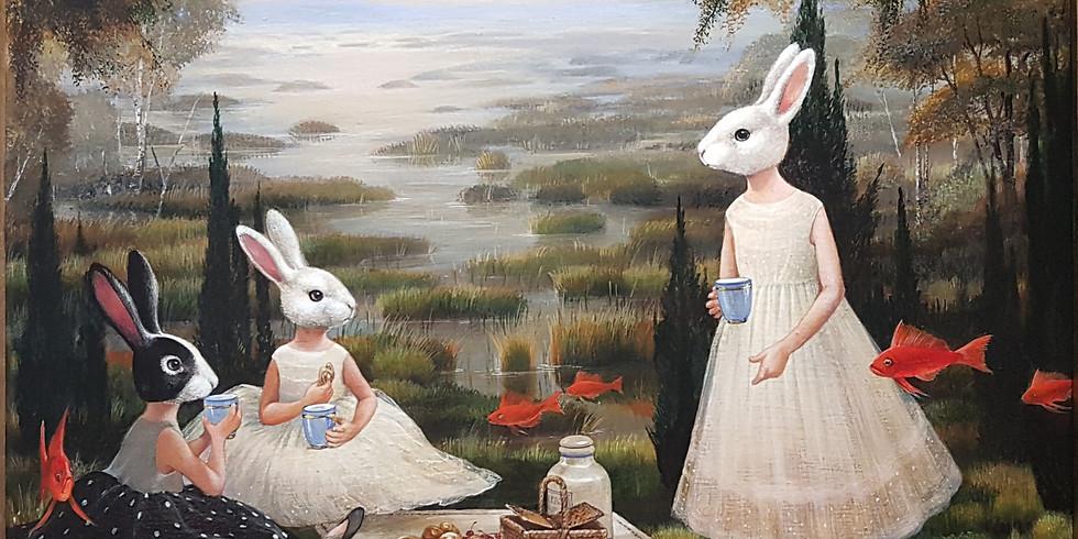 """Indros Grušaitės siurrealistinė tapybos paroda """"Kitapus upės"""" I 2020 05 15 – 06 21"""